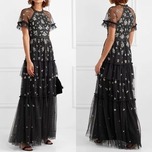 Needle & Thread Lustre Tiered Embellish Tulle Gown
